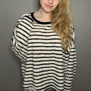 BRAND NEW WT Free People Striped Fuzzy Sweater